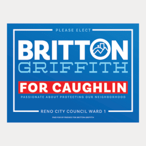 Caughlin Yard Sign
