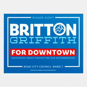 Downtown Yard Sign