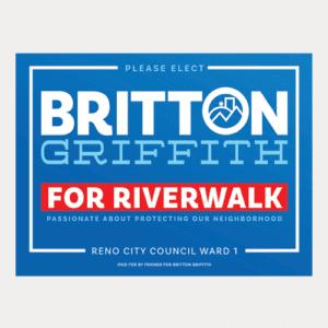 Riverwalk Yard Sign