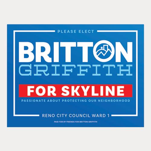 Skyline Yard Sign